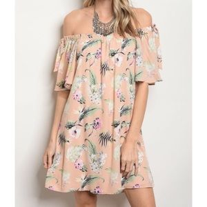 Dresses & Skirts - 1 DAY CLEARANCE✨ peach floral Off Shoulder dress